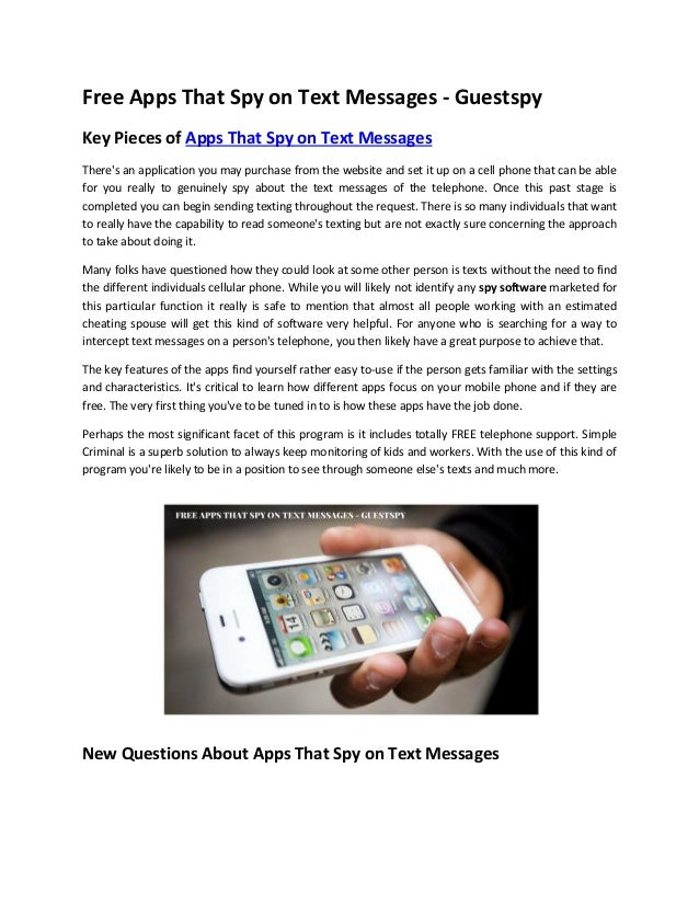 spy on text messages free app