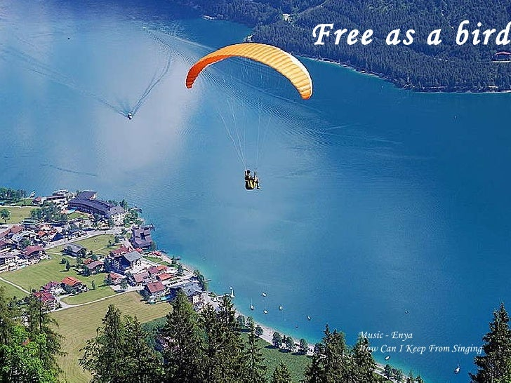 Free as a bird   Music - Enya How Can I Keep From Singing