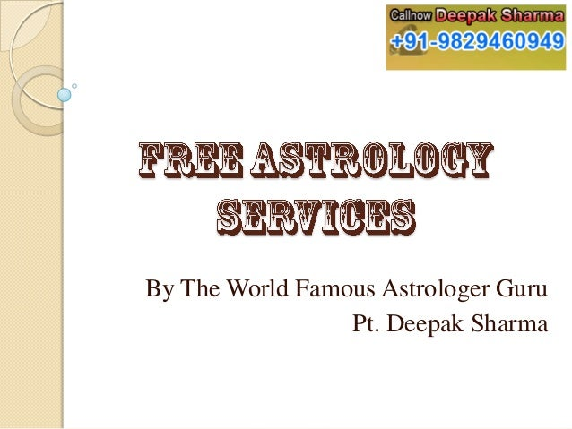By The World Famous Astrologer Guru Pt. Deepak Sharma