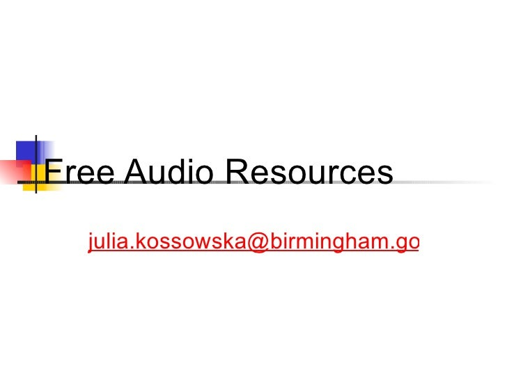 Free Audio Resources [email_address]