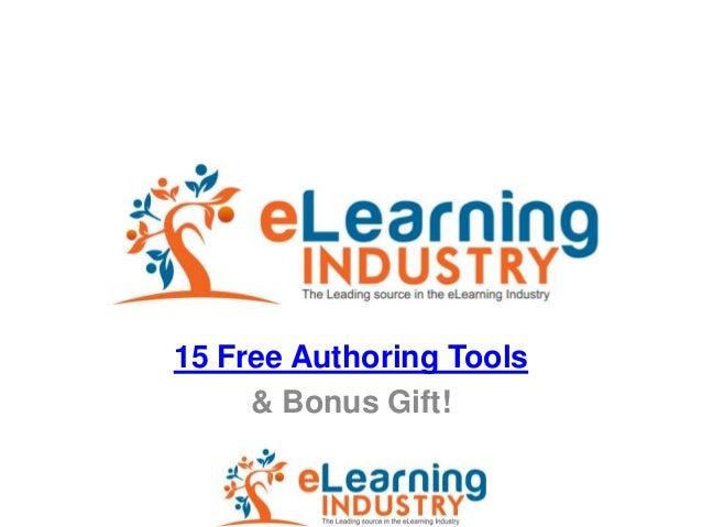 15 Free Authoring Tools     & Bonus Gift!