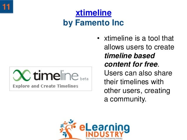 11        xtimeline     by Famento Inc            • xtimeline is a tool that              allows users to create          ...