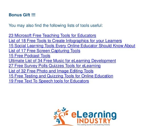 Bonus Gift !!!You may also find the following lists of tools useful:23 Microsoft Free Teaching Tools for EducatorsList of ...