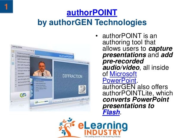 1           authorPOINT    by authorGEN Technologies                 • authorPOINT is an                   authoring tool ...