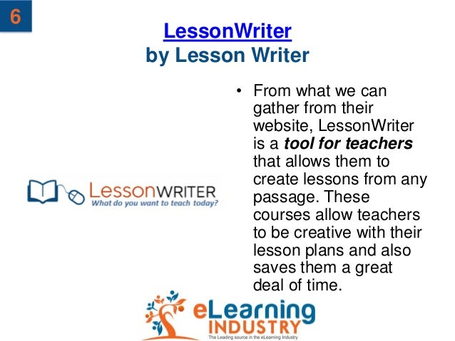 6     LessonWriter    by Lesson Writer            • From what we can              gather from their              website, ...