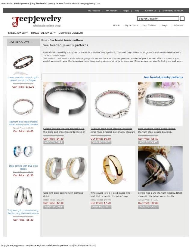 free beaded jewelry patterns   Buy free beaded jewelry patterns from wholesalers on jeepjewelry.com                       ...