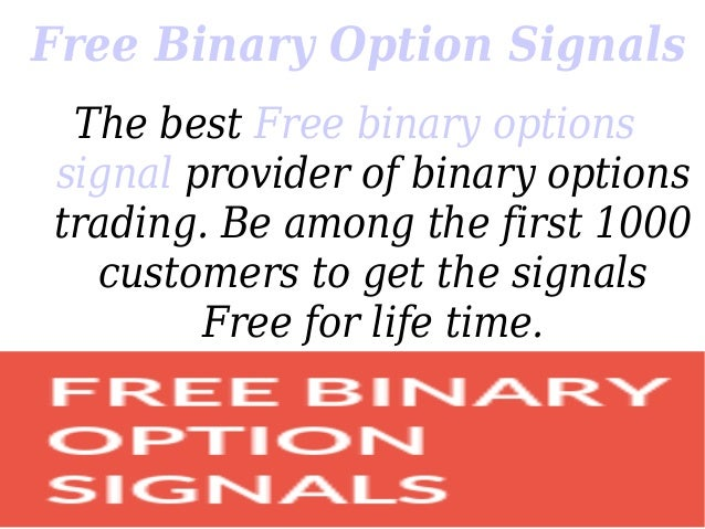 Free binary option signal provider