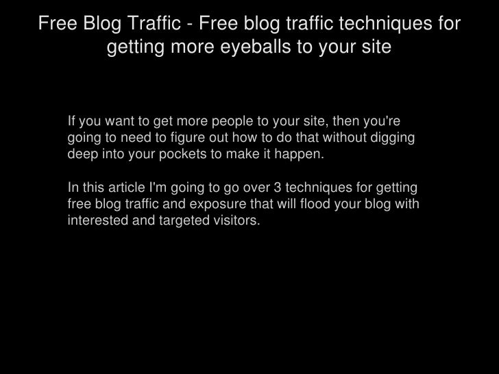If you want to get more people to your site, then you're going to need to figure out how to do that without digging d...