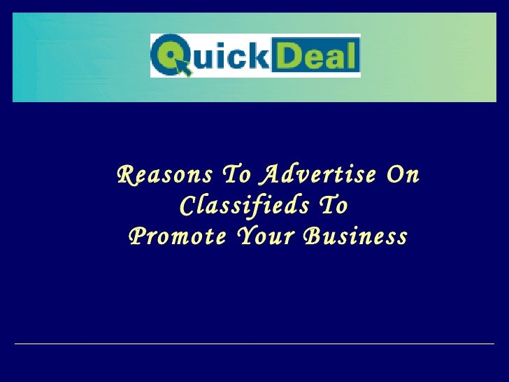 Reasons To Advertise On Classifieds To  Promote Your Business
