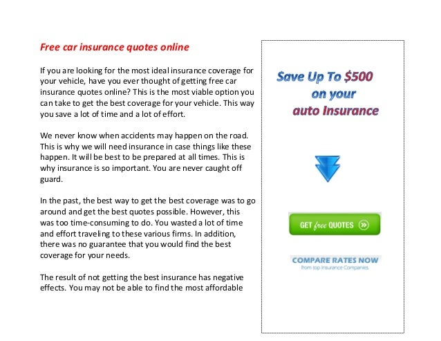 Auto Insurance Quotes Online Free Adorable Free Car Insurance Quotes Online