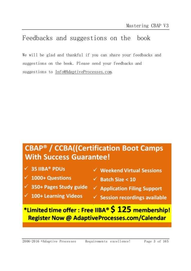 CBAP / CCBA Certified Business Analysis Study Guide Pdf