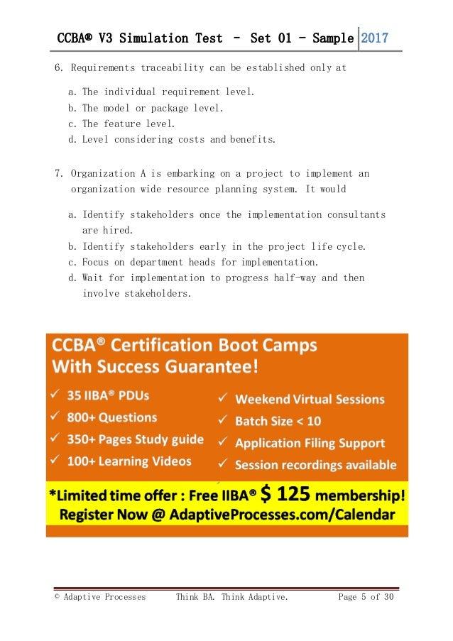 Free Ccba V3 Question Bank