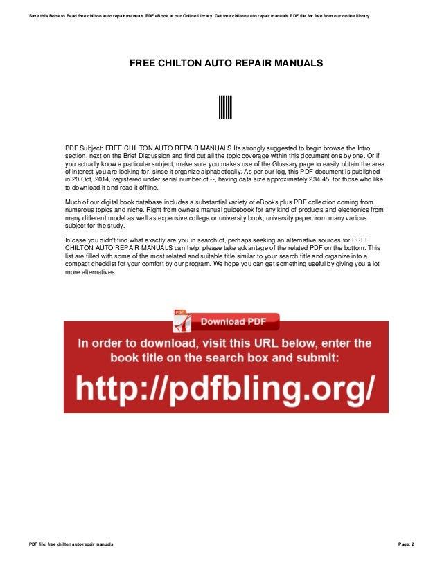 Chilton repair manual pdf dolapgnetband chilton repair manual pdf fandeluxe Choice Image