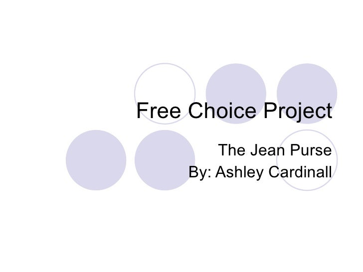 Free Choice Project The Jean Purse By: Ashley Cardinall