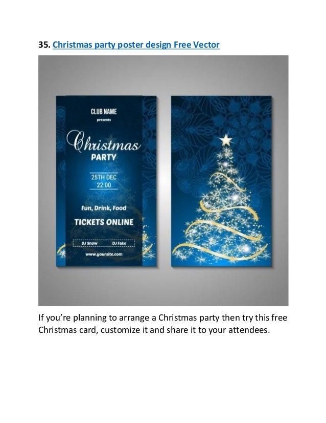 37. 35. Christmas Party Poster Design Free ...