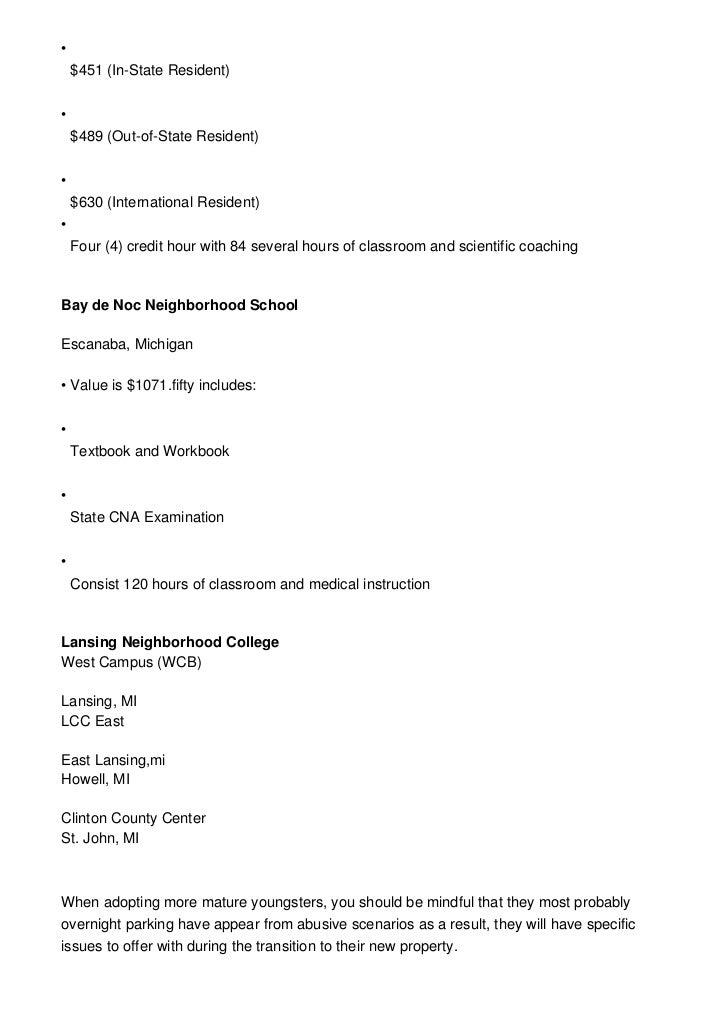Michigan Cna Information Requirements Training Salary Renewal An