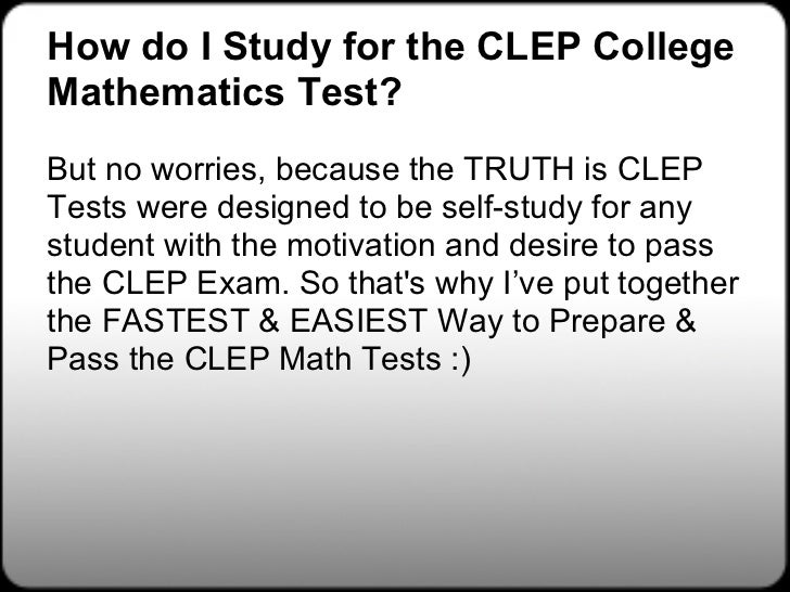 Clep college math practice test questions study guide zone.