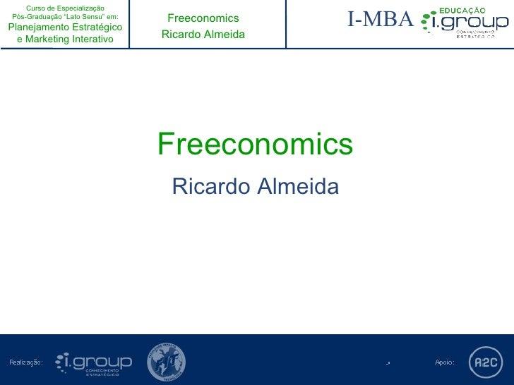 """Curso de EspecializaçãoPós-Graduação """"Lato Sensu"""" em:Planejamento Estratégico                                  Freeconomic..."""