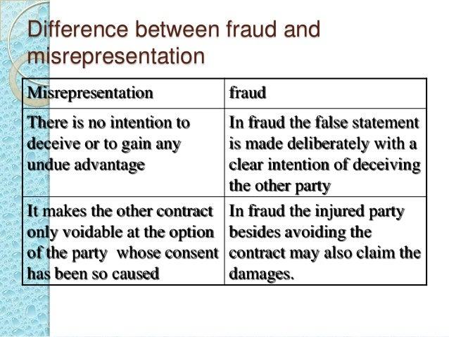 fraudulent misrepresentation examples