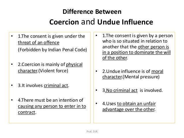 coercion in business law