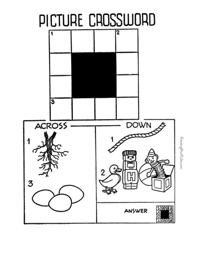 Free Crossword Puzzle For Kids 005