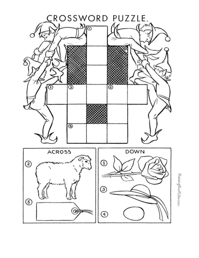 Free Crossword Puzzles For Kids 008