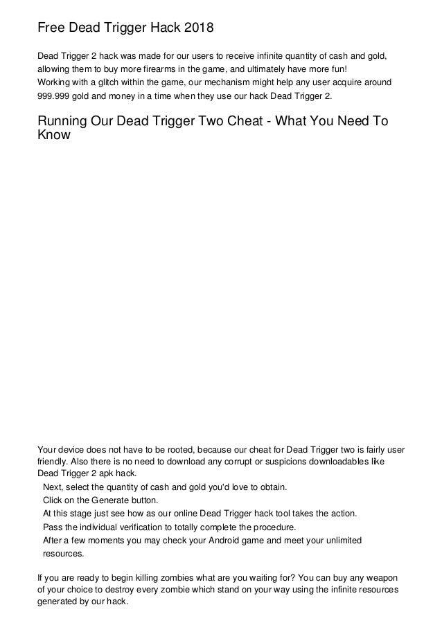 dead trigger 1 hack mod apk