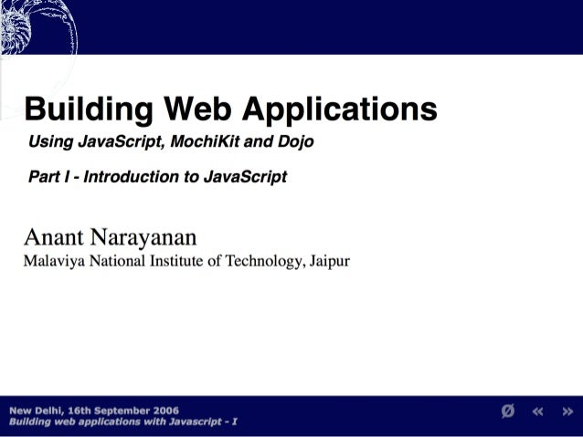Building Web Applications with MochiKit and Dojo