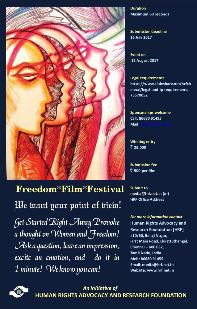 Image result for One Minute Films on Women and Freedom - Submission deadline 5 August 2017