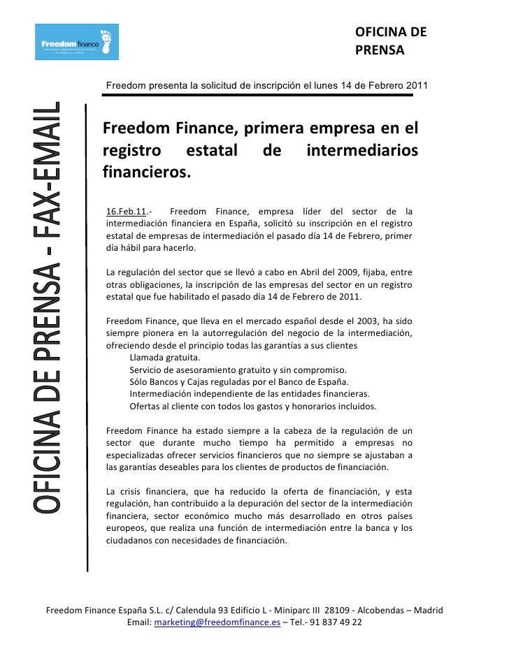 OFICINA DE                                                                            PRENSA              Freedom presenta...