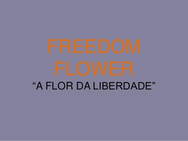 """FREEDOM FLOWER """"A FLOR DA LIBERDADE"""""""