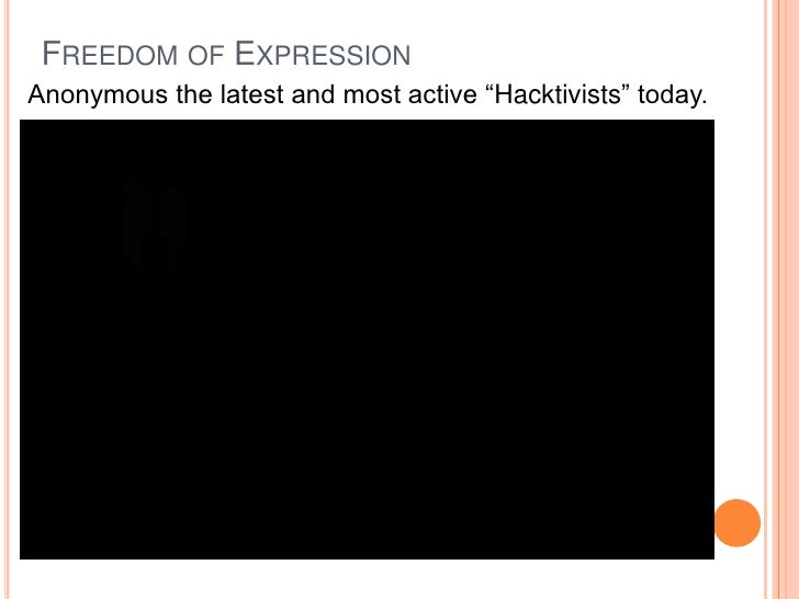 Freedom of expression Slide 3