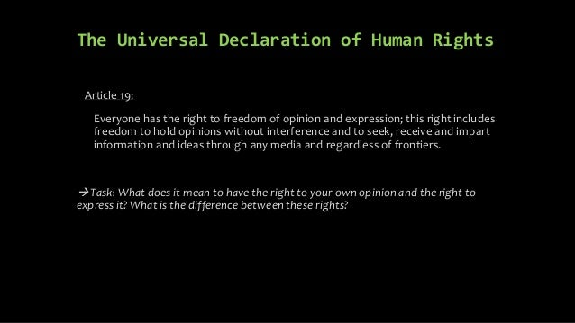 Freedom of expression and public interest in media Slide 3