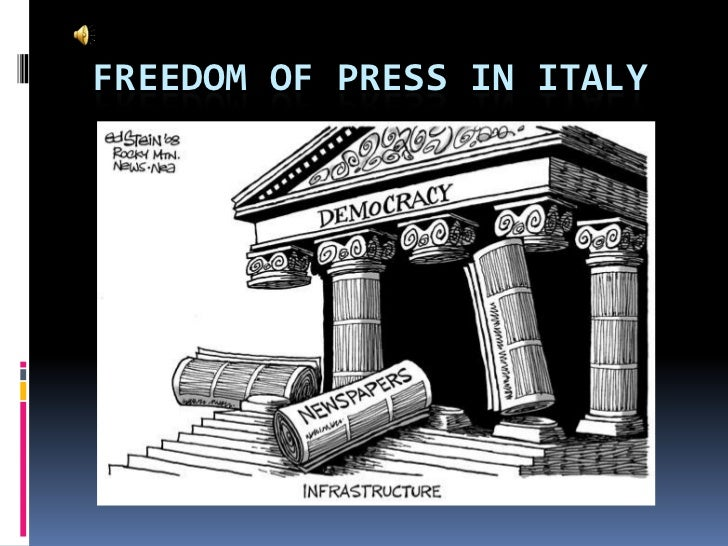 Freedom of press in Italy<br />