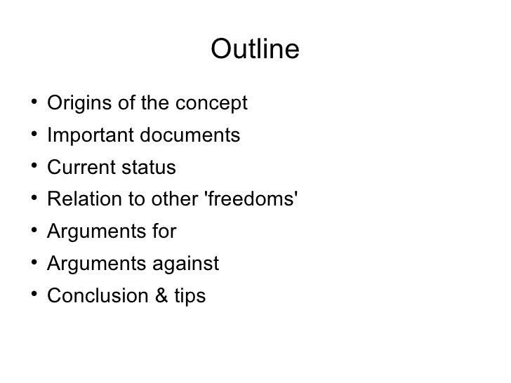 freedom of speech outline