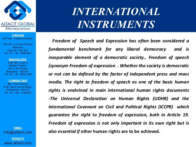 Evolution of right to freedom of speech and expression Slide 3