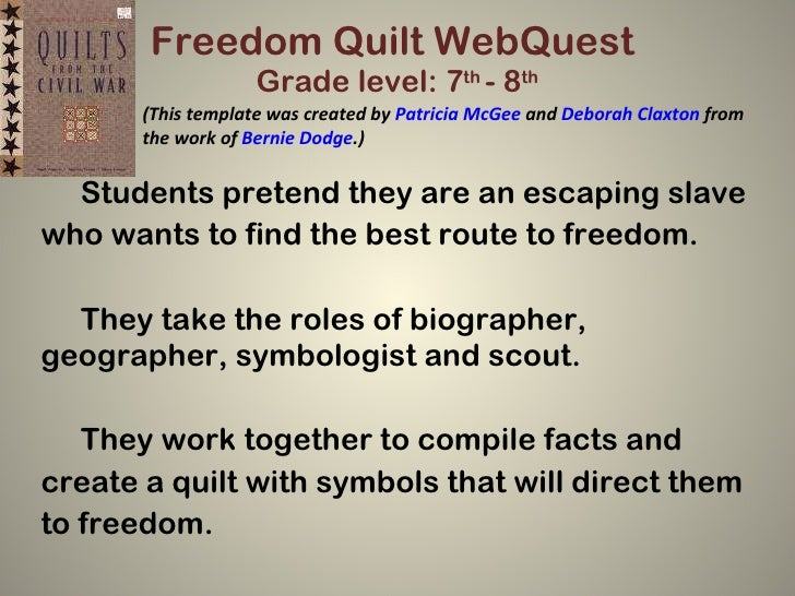 Freedom Quilt Web Quest