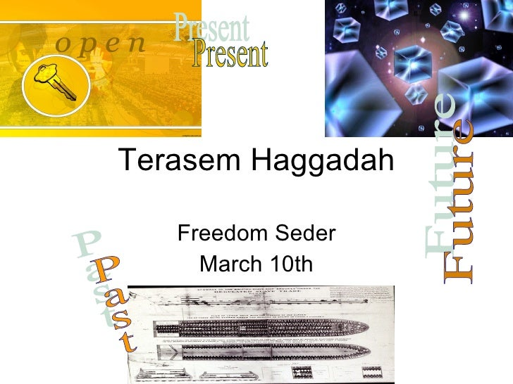 Terasem Haggadah Freedom Seder March 10th Past Present Future