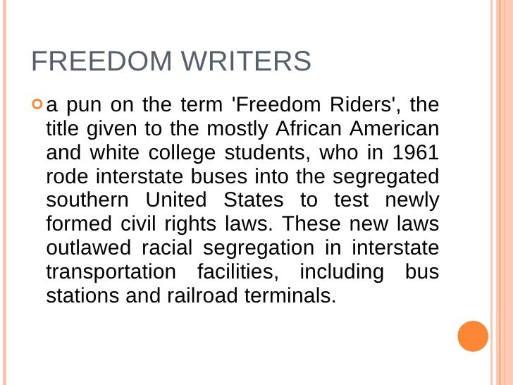 freedom writers sparknotes The movie constructs the teacher as a 'gate to freedom as it helps fulfil the present freedom writers also contains freedom writers diary summary.
