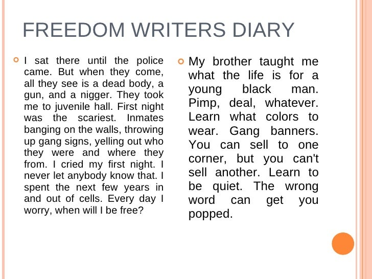 reaction paper freedom writers Amazoncom: the freedom writers diary teacher's guide (9780767926966): erin gruwell, the freedom writers: books interesting finds the freedom writers diary teacher's guide takes students through a three-stage process that will maximize so play off their reaction and challenge.