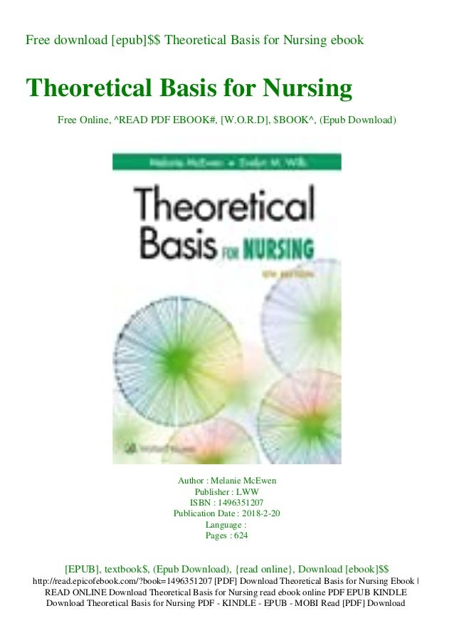 Free download [epub]$$ Theoretical Basis for Nursing ebook Theoretical Basis for Nursing Free Online, ^READ PDF EBOOK#, [W...