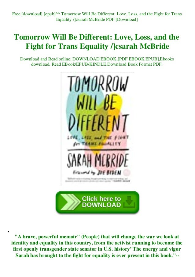 Tomorrow Will Be Different PDF Free Download