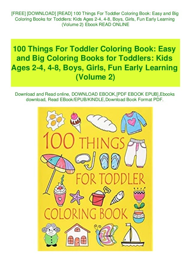 FREE] [DOWNLOAD] [READ] 100 Things For Toddler Coloring Book Easy An…