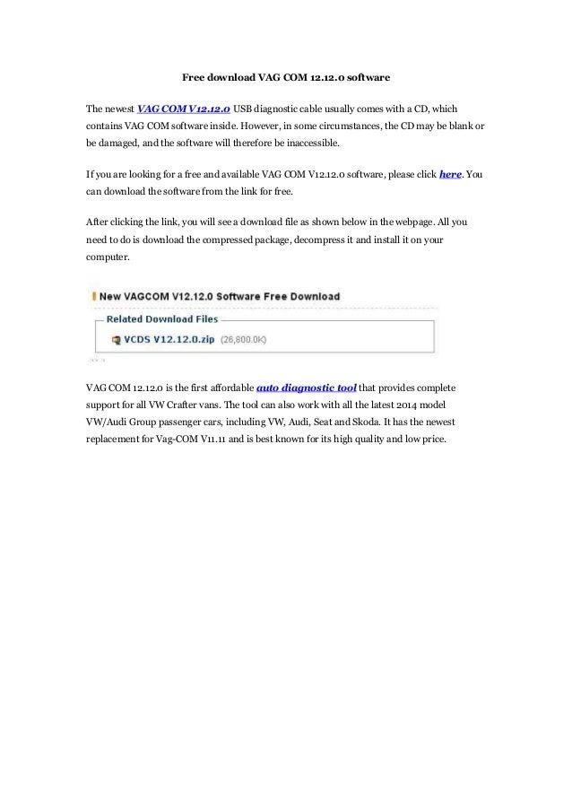 free download vag com 12120 software the newest vag com v12120 usb