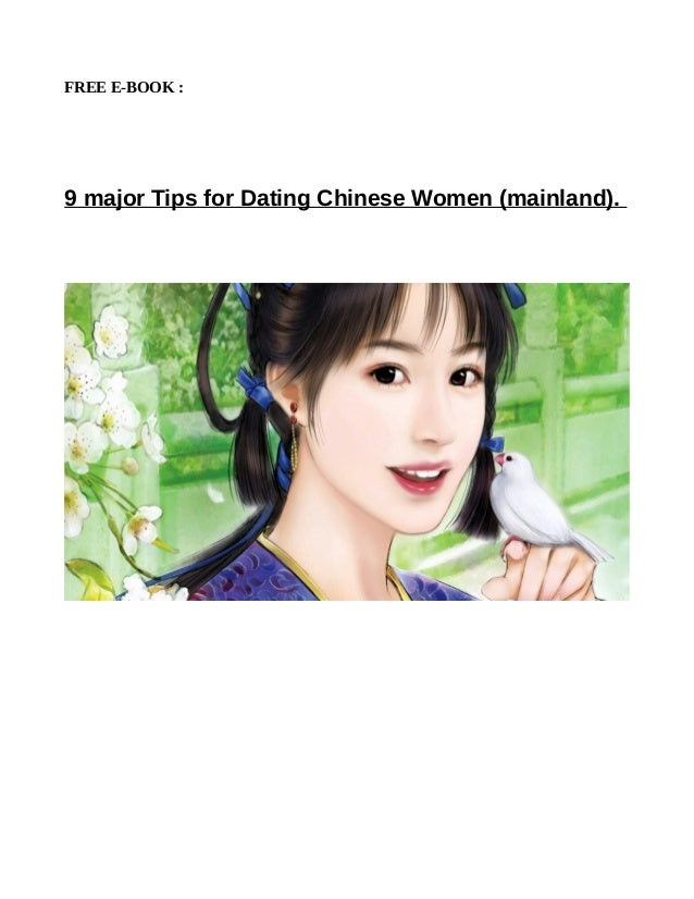Chinese dating tips