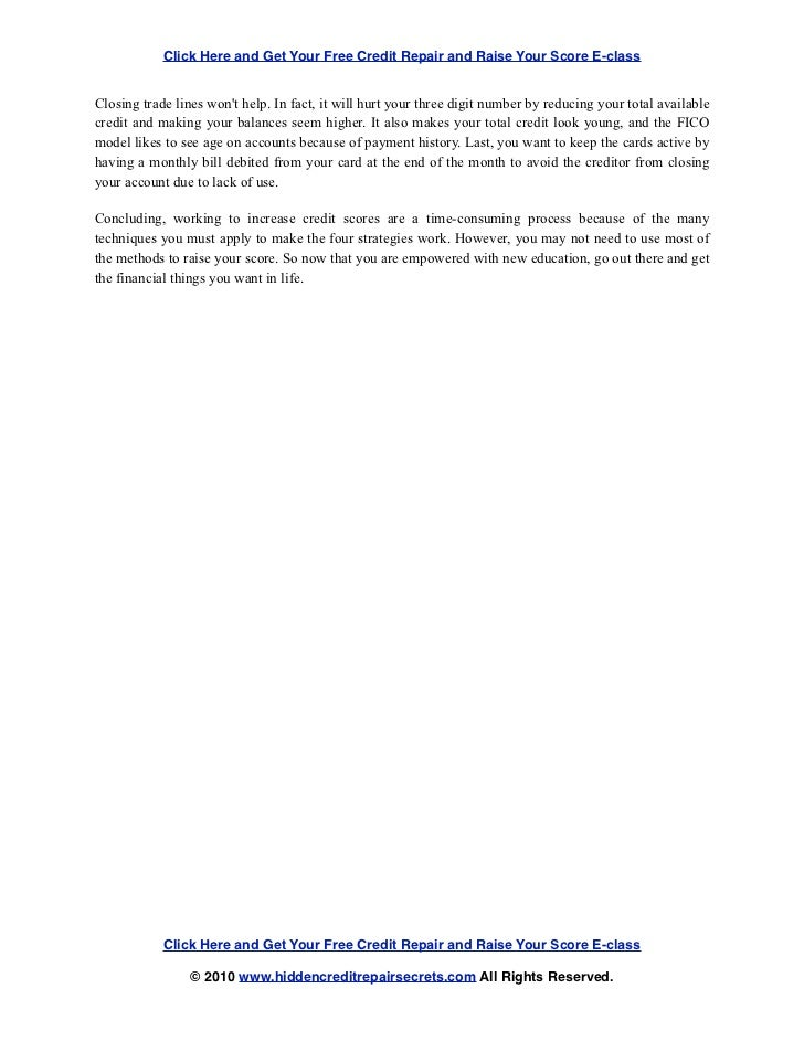 hidden credit repair secrets pdf