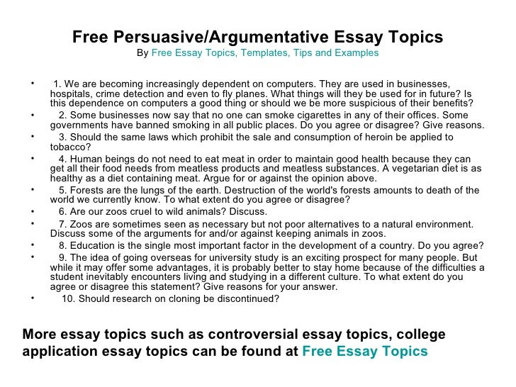 essay argumentative essay topics for high school sample essay for ...