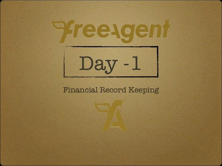 <ul><li>Financial Record Keeping </li></ul>