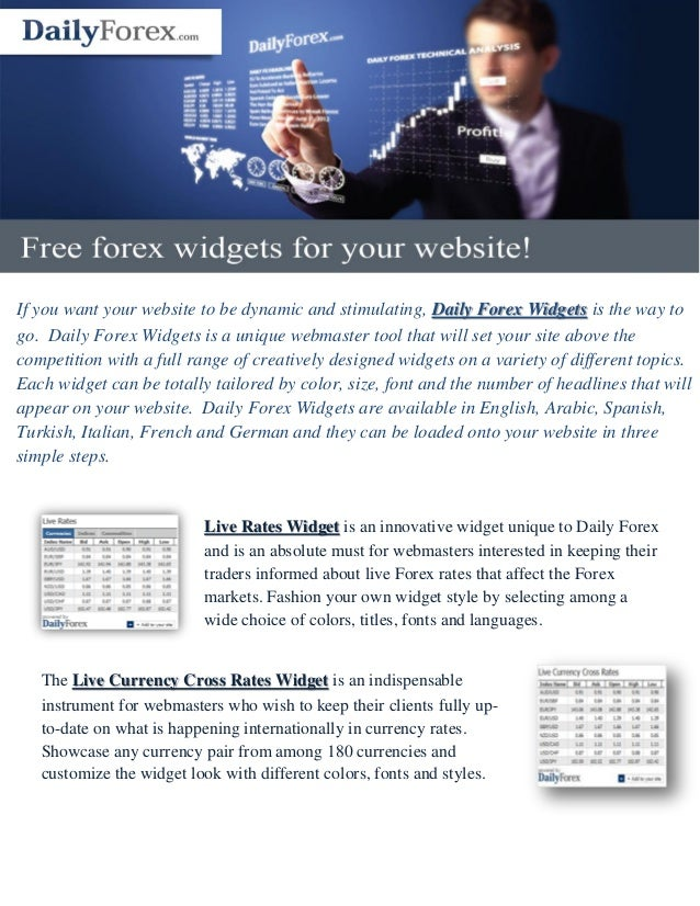 Forex news widget