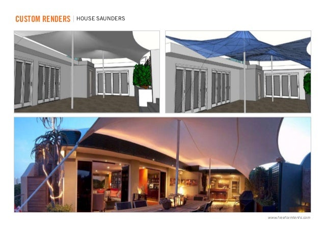 ... renders | house saunders .freeformtents.com ...  sc 1 st  SlideShare & Freeform® Custom Stretch Tents